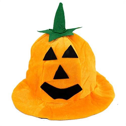 WUAI Halloween Hats for Adults Costume Decorations Party Props Pumpkin Hat (B) (B)]()
