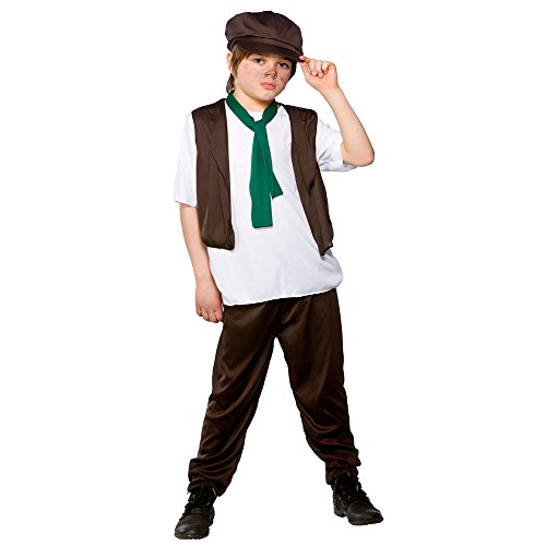 Boys Victorian Boy Costume for 18th Century Dickensian Edwardian Cosplay Age 3-4 ()