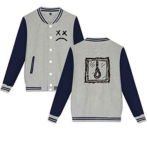 Pile Cappotto Sweatshirt Donna Giacca Da Popolare Moda Uniforme Grey2 Con Baseball Lil Besthoo Peep Cardigan 8TxqpwnS