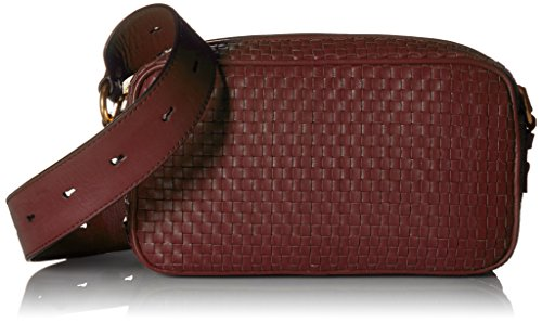 - Cole Haan Zoe Woven Leather Camera Crossbody Shoulder Bag, Fired Brick