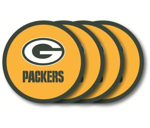 Green Bay Packers Coaster Set - 4 (Green Bay Packers Coasters)
