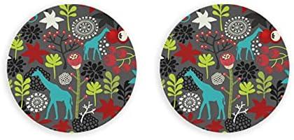 Abrebotellas magnético de vector de flores de jirafa sin costuras, 2 imanes de nevera, abridor de tapa de botella de nevera