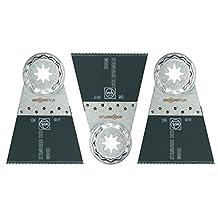 FEIN 63502134270 3 PK-E-Cut Standard Wood Cutting Blade 2-9/16-Inch x 2-Inch Starlock Plus