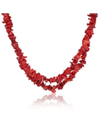 Gemstone Double Strand Necklace with Sterling Silver Clasp, 18""