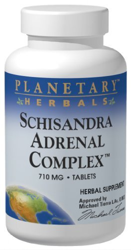 (Schizandra Adrenal Support Planetary Herbals 120 Tabs)