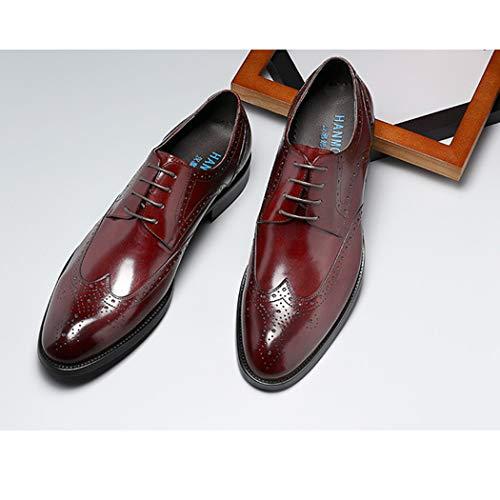 Stile Autunno Up Uomo Scarpe Da Scarpe Uomo Lace Classico Brogues Scarpe Nuovo Formale A Scarpe Vestito Red Mano 7Rvwq5va