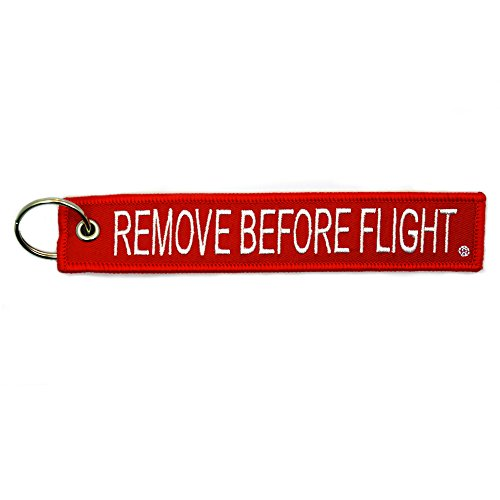 1x Remove Before Flight Red Key Chain by Apex Imports(1 Pack)