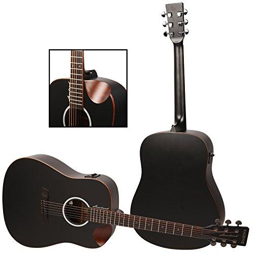 Kadence Slowhand Series Premium Acoustic Guitar, Black Spruce Top