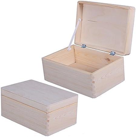 Caja de madera caja de almacenaje con diseño de madera de la caja de decorativo infantil con diseño de caja de madera de la caja, madera, 30x20x14.5 cm: Amazon.es: Hogar