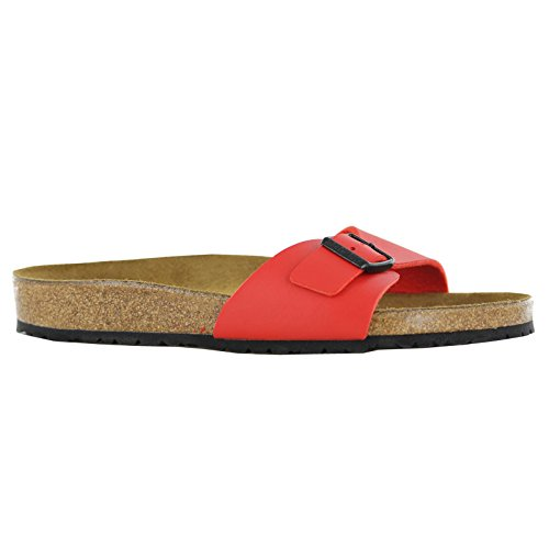 Birkenstock Madrid Ladies Buckle Flat Sandals Cherry 40