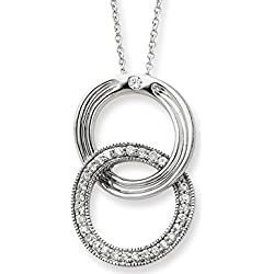 You Complete Me Pendant Necklace in Sterling Silver with Synthetic Cubic Zirconia (CZ)