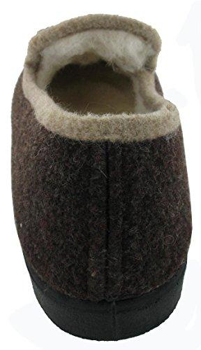 bas mixte antiderapant Vaillac fourrés caoutchouc Marron WAPITI'TOO semelle chaussons slippers laine charentaises pure wqXFRIaT