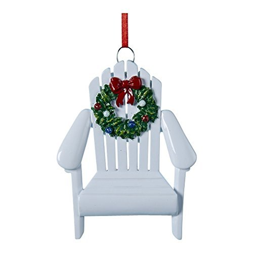 - Kurt Adler Adirondack Chair Wreath White 4 Inch Resin Ornament