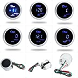 "Excellent Water Temperature Meter Gauge for Auto Car 2"" 52mm Blue LED Light"