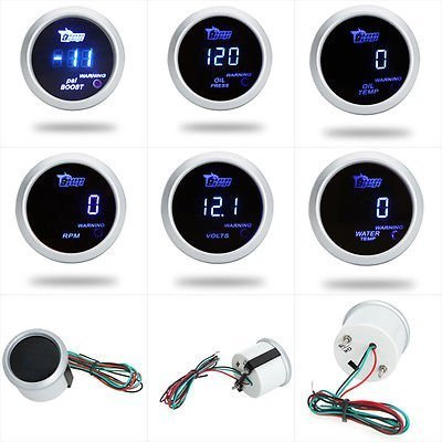 Excellent DC12V Blue LED Digital Water Temp Gauge (Diameter: 52MM/2 inch) Excellent Automotive Digital Gauge