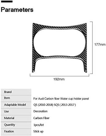2013-2017 2010-2018 Auto Styling Interieur Kohlefaser Wasser Becherhalter Panel Trim Aufkleber Aufkleber,f/ür Audi Q5 SQ5 Auto Zubeh/ör