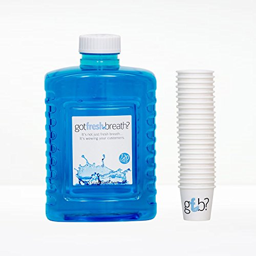 Mouthwash Refill of 6 Bottles & 720 Cups - Alcohol-free - Six 1.5 Liter Mouthwash Bottles and a Box of 720 Cups. by Got Fresh Breath