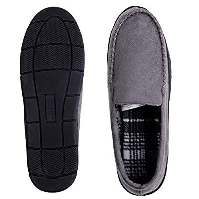 MIXIN Mens Moccasin Slippers Indoor Outdoor Loafer Shoes | Slippers