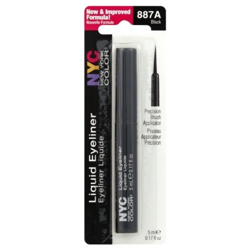New York Color Liquid Eyeliner, Extreme Black 0.15 oz