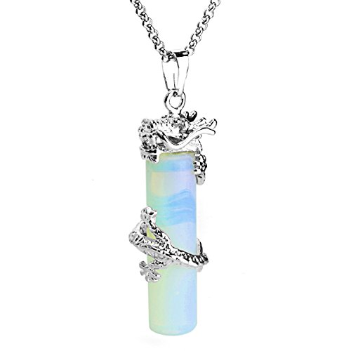 JewelrieShop Wrapped Cylinder Necklace Stainless product image