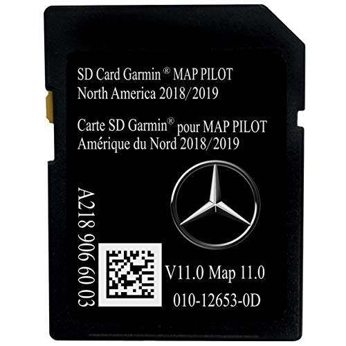 Latest 2019 Navigation SD Card 2019 2018 2017 Version A2189066003 for Mercedes B C CLA CLS GLA GLC SLC Chip Map with Anti Fog Car Rearview Mirror Film and Key Chain