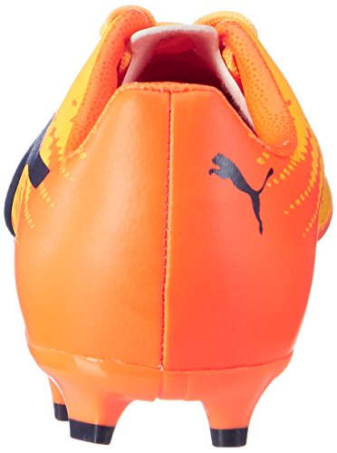 Puma Evospeed 17.4 FG Jr, Botas de Fútbol Unisex Niños Amarillo (Ultra Yellow-peacoat-orange Clown Fish 03)