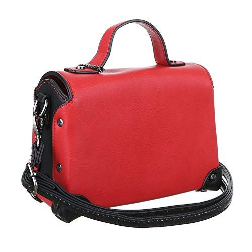 Damen Tasche, Schultertasche, Kleine Handtasche, Kunstleder, Rot, TA-4340-88A