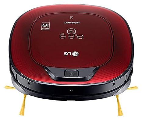 LG VR8602RR Hombot Turbo Serie 9 - Robot aspirador programable con doble cámara, para casas con niños y alfombras, colo rojo