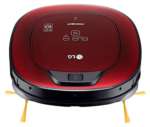 LG Electronics HomBot Turbo 8Series-Robot Vacuum Cleaner, Houses with Carpet Glossy Red 3d