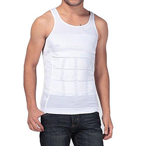 New Body Shaper - COSYOU Slim Mens Compression Muscle Tank (L, White)