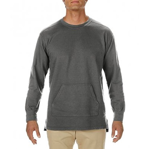 (Comfort Colors Mens French Terry Pocket Sweatshirt (XXL) (Pepper))