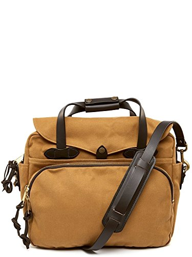 FIlson Padded Laptop Bag/Briefcase One Size Tan - Best for School, Business, Day Trips, and Travel Use - Computer / Tech Bag - Filson Laptop Bag