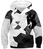 Imbry Boys Girls 3D Printed Hoodie for Kids Animal Hooded Pullover Sweatshirt(S,Black Diamond)