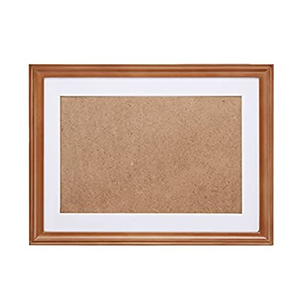 f9c6de923c1 FASTNOVA 13x19 inch Narrow Brown Wood Picture Frames Made to Display Picture  10x14 with Mat or