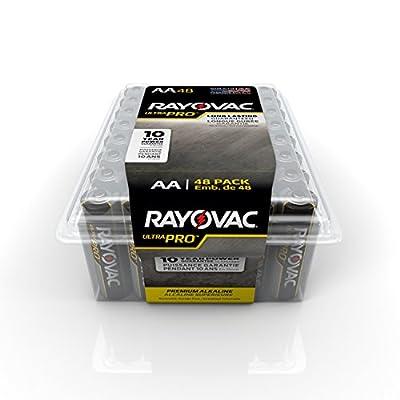 RAYOVAC ALAA-48PPJ Ultra Pro AA Alkaline Batteries, 48-Pack by Rayovac
