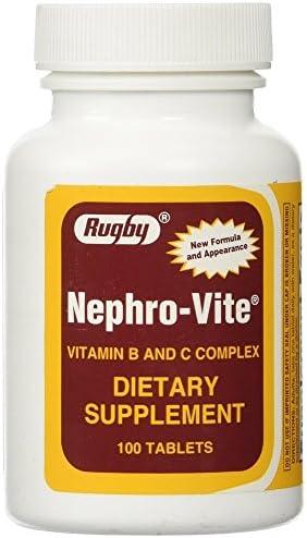 Nephro-Vite Tablets, 100 Count Per Bottle 3 Pack
