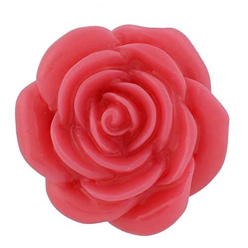 (Lovmoment Flower Shape Snaps Resin Jewelry Charm Interchangeable Button Snap Accessory (rose red))