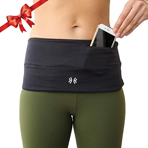 Limber Stretch Running Belt Waist Pack Money Belt, Insulin Pump Belt Fanny Pack   The Original Hip Hug PRO with Sweatproof Pocket, Fits iPhone Plus   Available in Plus Sizes S-XXL