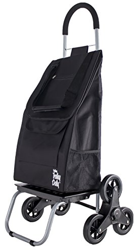 dbest products Trolley Dolly Stair Climber, Black Grocery Foldable Cart Condo Apartment by dbest products