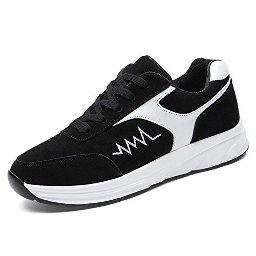 Zapatillas de Deporte de Las Mujeres Zapatos Corrientes de la Primavera Zapatos Planos de la caída de la Primavera Zapatos (Color : Negro, tamaño : 34)