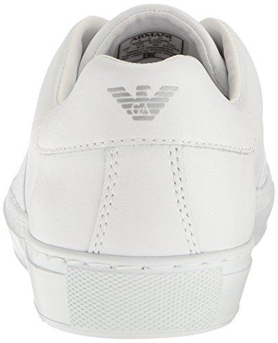 Cinturino Incrociato Jeans Armani Slip On Herren Sneaker Weiß