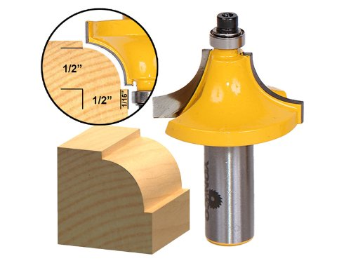 Yonico 13176 Round Over Beading Edging Router Bit with 1/2-Inch Radius 1/2-Inch Shank