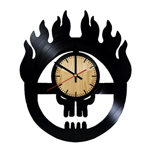 Price comparison product image Mad Max Logo Design Vinyl Wall Clock – handmade gift for any occasion – unique birthday,  wedding,  anniversary,  Valentine's day gifts - Wall décor Ideas for any space