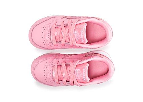 Reebok CL Leather Spring, Zapatillas de Deporte Unisex Niños Rosa (Pink/White 000)