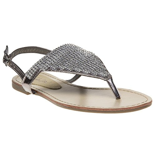 SOLESISTER SOLESISTER Metallic Bray Silver Sandals Bray 0SwTgq