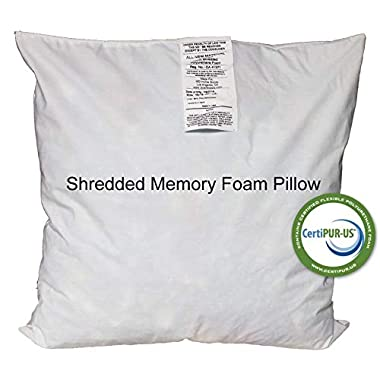 IZO All Supply 18x18 Pillow Inserts Firm & Plush Memory Foam Cushion Set of 4 Decorative Pillow Couch Pillow Filled with Comfortable Shredded Gel Foam, More Long-Lasting Support Than Regular Pillows