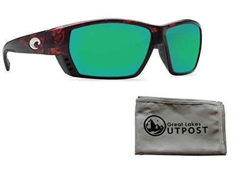 Costa del Mar Tuna Alley Green Mirror Glass - W580 Tortoise Frame Sunglasses w/Cloth