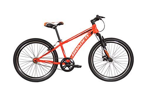 Hercules Roadeo Hank 2018 24T Single Speed Premium Geared Cycle Neon Orange