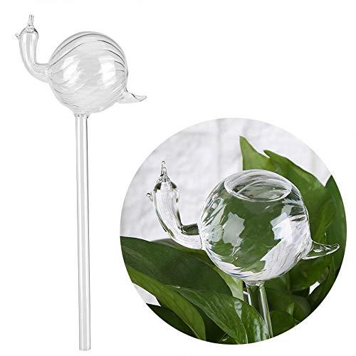 (PIVBY Hand Blown Glass Self Watering Globe Plant Water Bulbs Snail Shape Design Mini Transparent Plant Watering)