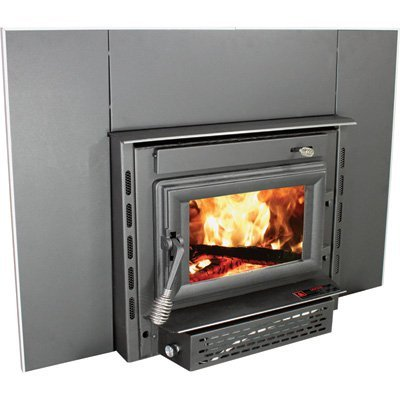 US Stove 2200i EPA Certified Wood Burning Fireplace Insert, Medium (Burning Fireplace Wood Blower)